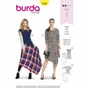 6352 Burda Pattern: Misses' Assymetric Dresses